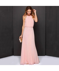 Lesara Langes Abendkleid - Rosé - M