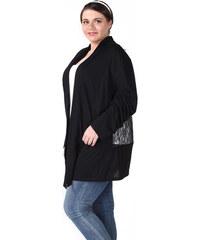 Lesara Cardigan mit transparentem Rücken - Schwarz - XL