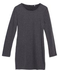 Lesara Gefüttertes Kleid mit langen Ärmeln - Dunkelgrau - S