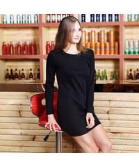 Lesara Gefüttertes Kleid mit langen Ärmeln - Schwarz - XS