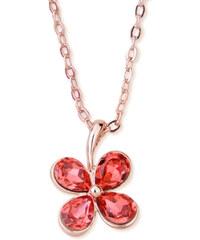 Lesara Kleeblatt-Halskette mit Swarovski Elements - Rot