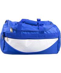Lesara Sporttasche mit Schulterpolster - Weiß-Blau