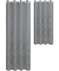 Lesara Ösenvorhang mit Blatt-Muster - Silber - Längliche Form