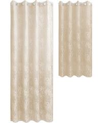 Lesara Ösenvorhang mit Blatt-Muster - Sand - Längliche Form