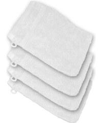 Lesara 4er-Set Frottee-Waschhandschuh - Weiß