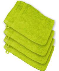 Lesara 4er-Set Frottee-Waschhandschuh - Grün