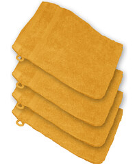 Lesara 4er-Set Frottee-Waschhandschuh - Terrakotta
