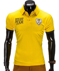 Lesara Polo-Shirt Rugby Team - Gelb - S