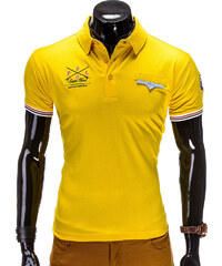 Lesara Polo-Shirt mit Paspeltasche - Gelb - XL