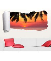 Lesara 3D-Tapeten-Sticker Paradies - Palmenblätter