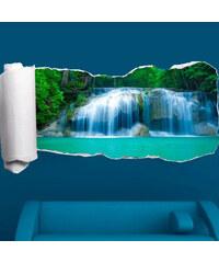 Lesara 3D-Tapeten-Sticker Wasserfall - großer Wasserfall