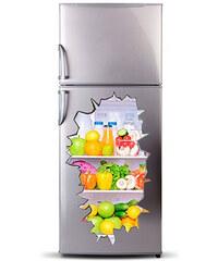 Lesara 3D-Kühlschrank-Sticker mit Motiv - Lebensmittel