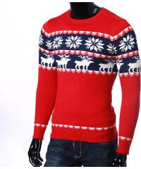 Lesara Pullover mit Rentier-Schneeflocken-Muster - Rot - S