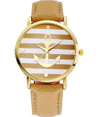 Lesara Armbanduhr mit Anker-Motiv - Gelb