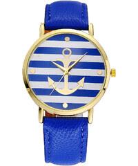 Lesara Armbanduhr mit Anker-Motiv - Blau