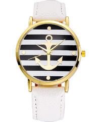 Lesara Armbanduhr mit Anker-Motiv - Weiß