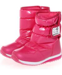 Lesara Gefütterter Kinder-Stiefel mit Klett-Verschluss - Pink - 29