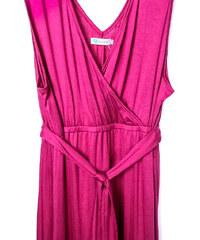Lesara Maxi-Kleid mit Taillenbund - Pink - XL