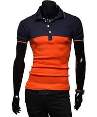 Re-Verse Poloshirt Zweifarbig - Orange - XL