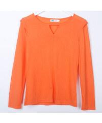 Lesara Langarmshirt mit Cut-Out - Orange - S