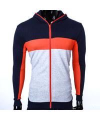 Re-Verse Baumwoll-Sweatjacke im Farbstreifen-Design - Orange - M