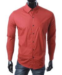 Re-Verse Hemd mit Brusttasche unifarben - Bordeaux - S