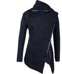Lesara Jacke mit Wasserfallkragen - Schwarz - S