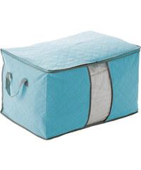 Lesara Bettwaren-Tasche mit Sichtfenster - Blau - 48 x 28 x 50 cm