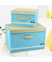 Lesara 2er-Set Aufbewahrungs-Box - Blau