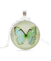 Lesara Halskette mit Schmetterling - Grün