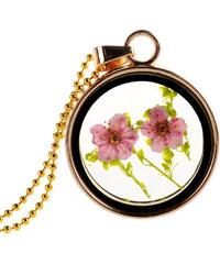 Lesara Halskette mit getrockneten Blüten - Grün