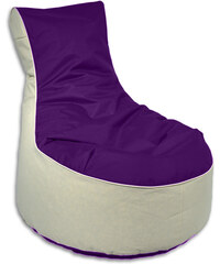 Lesara Kinzler Sitzsack-Möbel zweifarbig - Hocker - Violett
