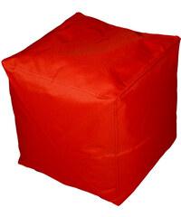 Lesara Kinzler Sitzhocker outdoorfähig - Eckig - Rot