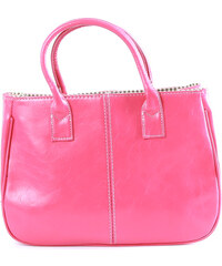 Lesara Handtasche in Used-Leder-Optik - Pink