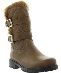 Lesara Gefütterter Stiefel mit Stepp-Details - Khaki - 39