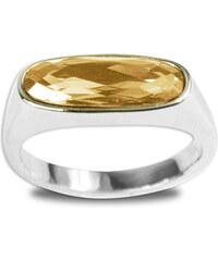 Lesara Ring mit ovalem Swarovski Elements - Gold - 54