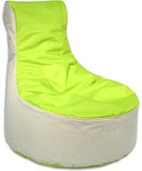 Lesara Kinzler Sitzsack-Möbel zweifarbig - Hocker - Grün
