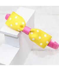 Lesara Kinder-Haarreif mit Zierschleife - Gelb