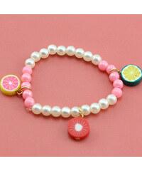 Lesara Kinder-Armband mit Candy-Anhängern - Rot