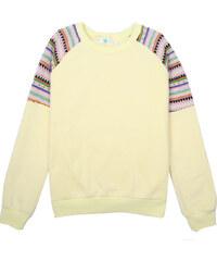 Lesara Sweater mit gemustertem Raglanärmel - Gelb - M