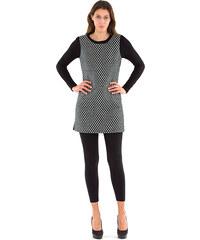 Lesara Long-Pullover mit Front-Muster - Barock - 38