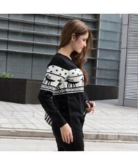 Lesara Pärchen-Pullover Rentier für Damen - Schwarz - M