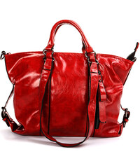 Lesara Handtasche in Leder-Optik - Rot