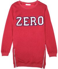Lesara Sweater mit Flockdruck - Rot - S