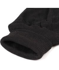 Lesara Leder-Handschuhe mit Strick-Einsätzen - Schwarz