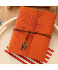 Lesara Fotoalbum im Blatt-Design - Orange
