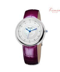 Lesara Armbanduhr mit Strass - Violett