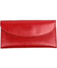 Lesara Klassischer Leder-Geldbeutel - Rot