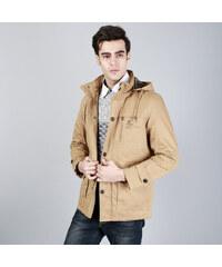 Re-Verse Baumwoll-Jacke mit Kapuze - Khaki - S