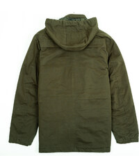 Re-Verse Baumwoll-Jacke mit Kapuze - Dunkelgrün - S